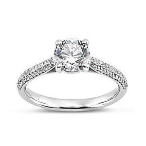 Jewelry - 2.58 ct Round diamonds solitaire with accents ring